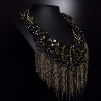 2015 Fashion New Name Z Famous Brand Necklace For Women Big Long Luxury Brand Necklace Long Beaded Bohemian Handmade Necklace (Size: 50cm, Color: Black) = 1928703556