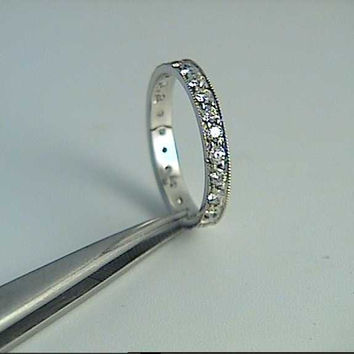 1.08ct Eternity Ring Round Diamonds White Gold 18kt White Gold JEWELFORME BLUE not blue nile