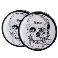 Smoking Skull BMA Plugs (6mm-60mm)