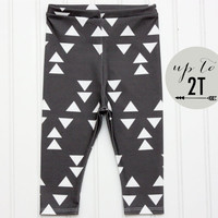 ORGANIC Cotton Knit Baby Toddler Tribal Geometric Leggings