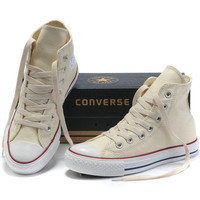 "Beige ""Converse"" Fashion Canvas Flats Sneakers Sport Shoes"