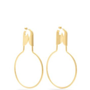 Round safety pin earrings | Balenciaga | MATCHESFASHION.COM US