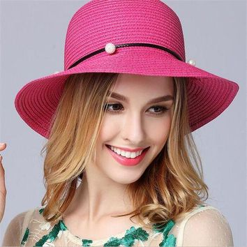 MDIGON 2017 summer hats for women Vintage Linen Beach hat outdoor flower straw hat Feminino Fedora Hat Ladies Chapeau snapback gorras