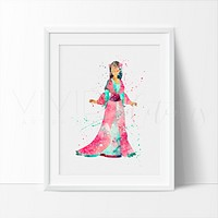 Mulan Watercolor Art Print