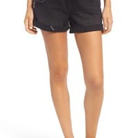 Volcom Distressed Denim Shorts (Worn Black) | Nordstrom