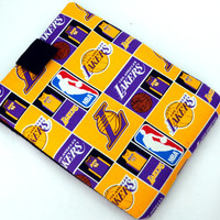 Hand Crafted Tablet Case From Licensed NBA Los Angeles Lakers  Fabric / Case for: iPad, iPad Air,  Kindle Fire HD, Samusng Galaxy Tab