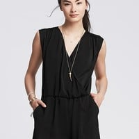 Banana Republic Womens Faux Wrap Romper