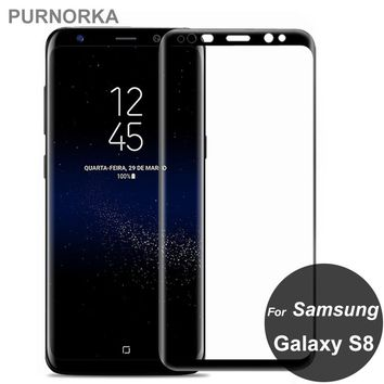 For Samsung Galaxy S8 Full Cover Tempered Glass 3D Screen Protector Covering Protective Film On S 8 SM-G950F pelicula de vidro