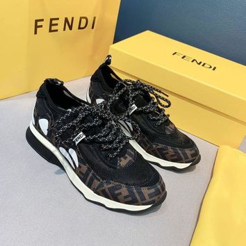 DCCK FENDI  Fashion Men Casual Running Sport Shoes Sneakers Slipper Sandals High Heels Shoes