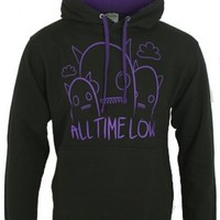 All Time Low Ghostline Black/Purple Contrast Hoodie - Buy Online at Grindstore.com
