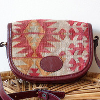Kilim Leather Purse Ercan May Crossbody Shoulder Bag