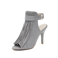 Women's High Heel Tassel Stiletto Heel Sandals