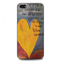 Yellow Submarine Beatles Song Lyrics Canvas For iphone 5 and 5s case