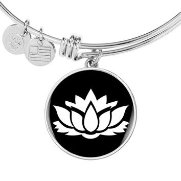 Lotus Flower v2 - Bangle Bracelet