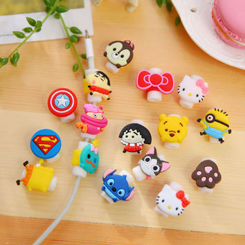 Best Sellers Cartoon Data Line Protect Sheath Korean Lovely Three-dimensional Protect Organ Winding