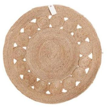Jute Round Gray New Carpet Collection