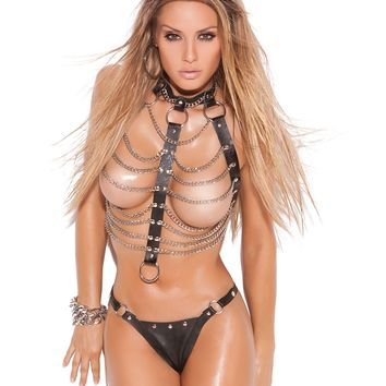 Leather 'n Chains Vest and Thong