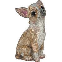 Judith Leiber Couture Chihuahua Crystal Minaudiere, Champagne Multi