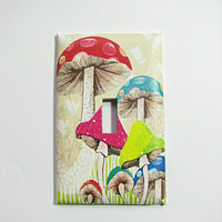 Light Switch Cover - Light Switch Psychedelic Magic Mushrooms Groovy