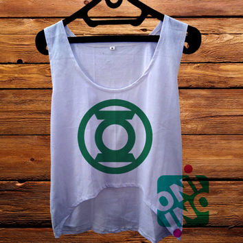 Green Lantern Logo crop tank Women's Cropped Tank Top