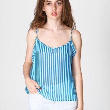 Stripe Chiffon Camisole | New & Now Women | American Apparel