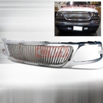 FORD 1999-2002 FORD F150 1P CHROME GRILLE VERTICAL PERFORMANCE