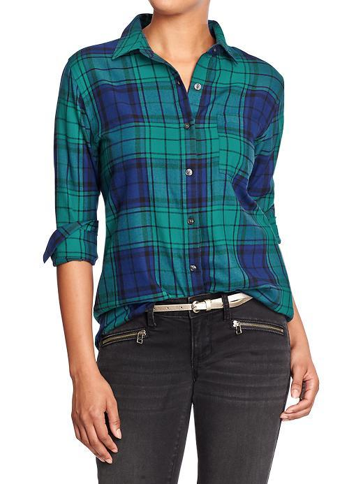 women 39 s plaid flannel boyfriend shirts from old navy winter