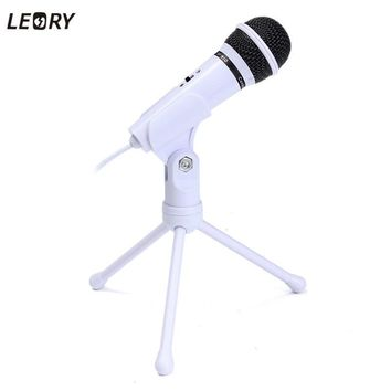 Condenser Microphone 3.5mm Wired Mic With Stand