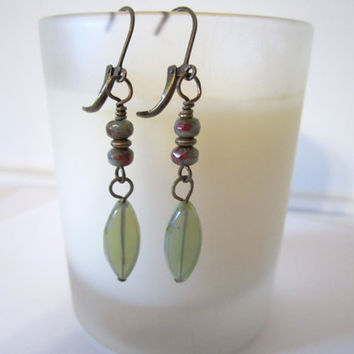 Picasso Spindle Bead Earrings