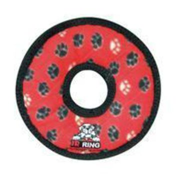 DCCKU7Q VIP Products Tuff Jr. Gear Ring Red Paws
