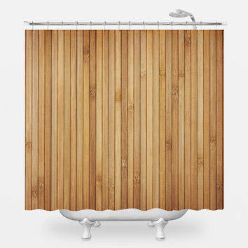 Retro Wood Light Shower Curtain