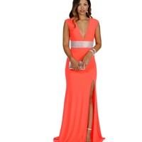 Julie- Coral Prom Dress