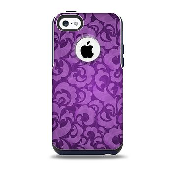 The Purple Bright Lace Pattern Skin for the iPhone 5c OtterBox Commuter Case