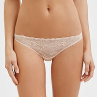 Floral Lace-Front Thong