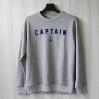 Captain Sweatshirt Sweater Shirt – Size XS S M L XL