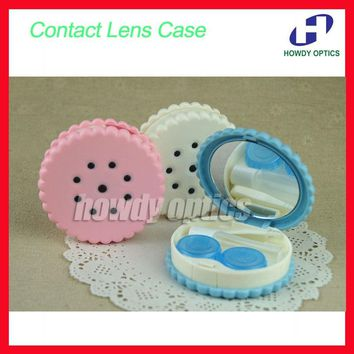 10pcs/lot Wholesale CLC02  New Sweet Cookies SeriesContact lens Case  Contact Lenses Box & Case Promotional Gift Free Shipping