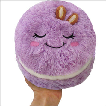 Mini Comfort Food Macaron: An Adorable Fuzzy Plush to Snurfle and Squeeze!