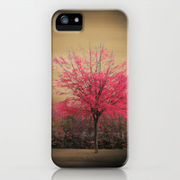 Pink Tree iPhone Case by Fine2art