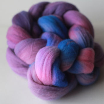 Galaxy - Merino Wool Roving - Hand-Dyed Wool For Spinning, Felting 3.5 oz 100g