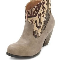 Stitched Western Ankle Bootie: Charlotte Russe
