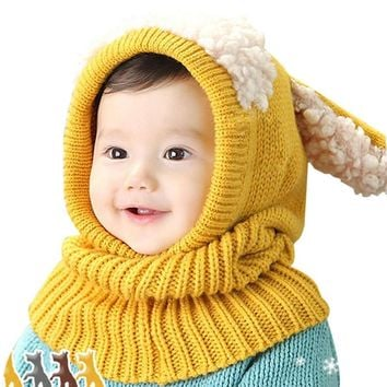 28 Styles Kids Winter Hats Girls Boys Children Crochet Warm Caps Scarf Set Baby Bonnet Enfant Cartton Cute Hat for Girl Boy