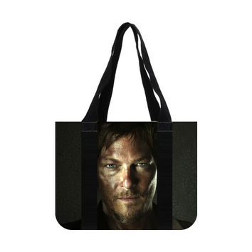 The Walking Dead Daryl Dixon Norman Reedus Cotton Canvas Tote Bag (two sides)