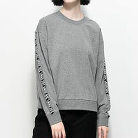 Vans Bishop Heather Grey Crew Neck Sweatshirt | Zumiez