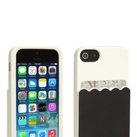 Women's kate spade new york 'scallop pocket' card holder iPhone 5 & 5s case