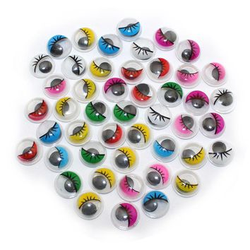 With Self-adhesive 200PCS/lot 8MM  Dolls Eye With eyelashes  Googly Safety Eye For Toys Used For DIY Scrapbooking Crafts