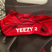 "Nike Air Yeezy 2 ""Red October"" Socks"