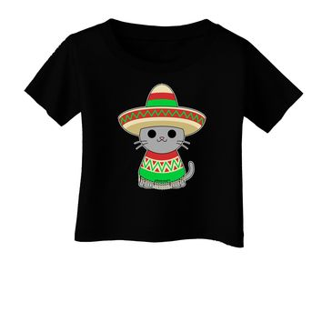 Cat with Sombrero and Poncho Infant T-Shirt Dark by TooLoud