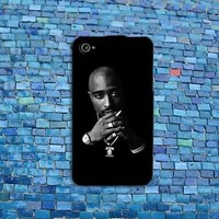 2Pac Tupac Shakur Black Case Famous Music Rap Cool iPhone Cute Cover California