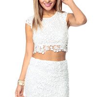 Timeless Lace Crop Top