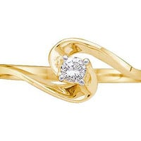Diamond Promise Ring in 14k Gold 0.1 ctw
